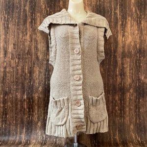 Free people knit sleeveless cardigan